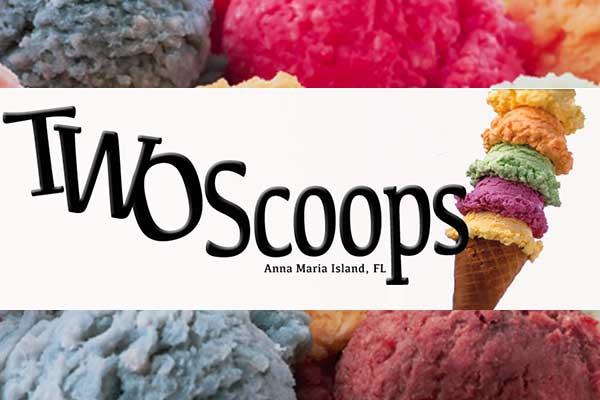 2 Scoops Ice Cream on Anna Maria Island