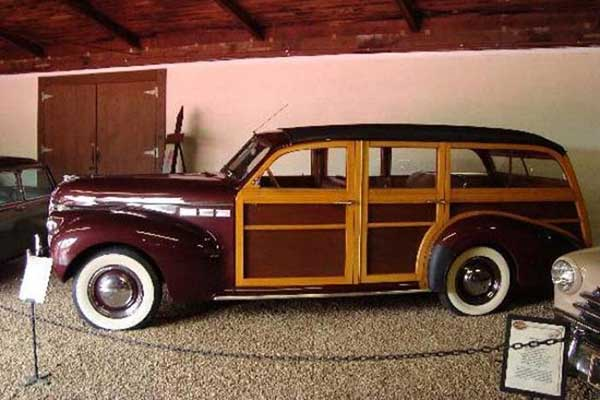 woody paneled car