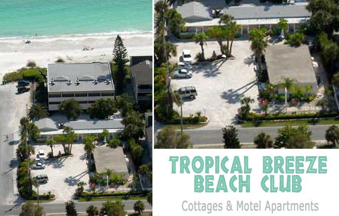 Anna Maria Island Aerial of Tropical Breeze Beach Club