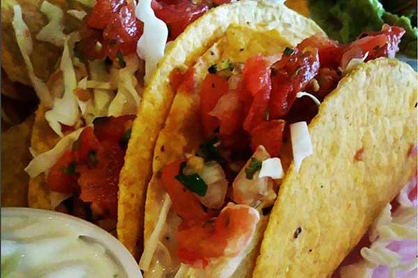 fish tacos from tortilla bay