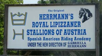 Hermann Lipizzan Sign