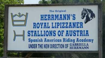 Hermann Lipizzan Sign