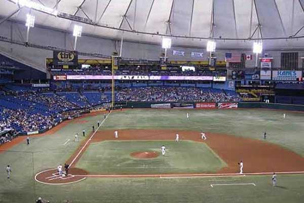 Rays at tropicana stadium