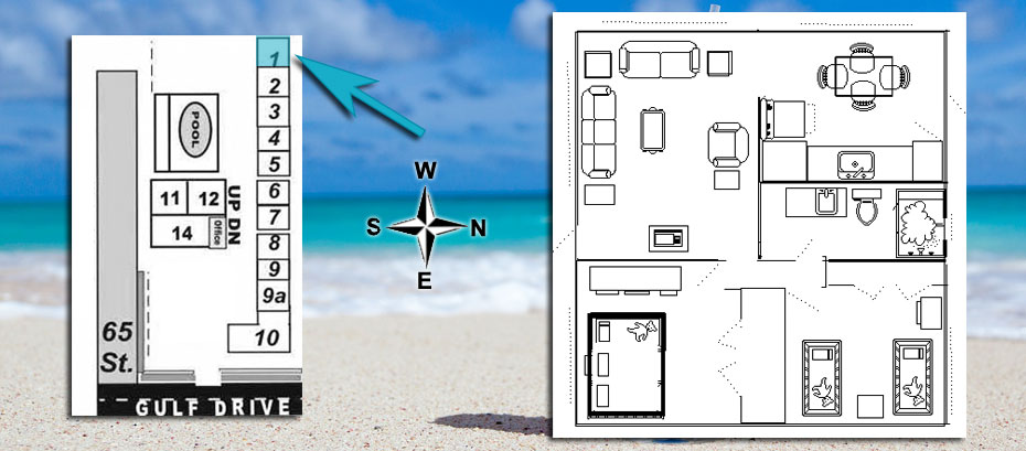 Room layout and location map