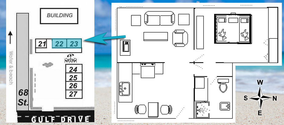 layout of room 22, 23