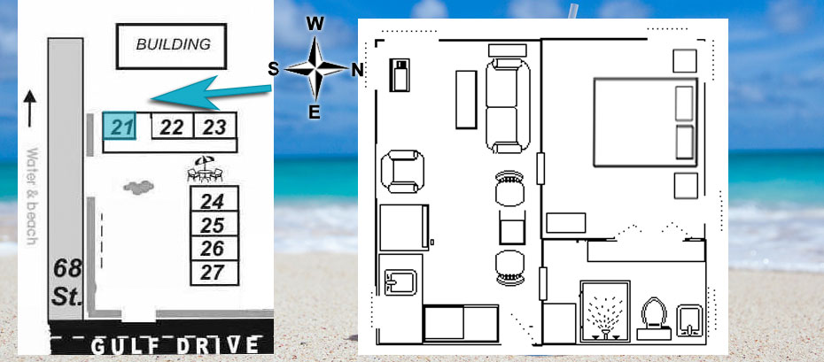 Layout of cottage 21