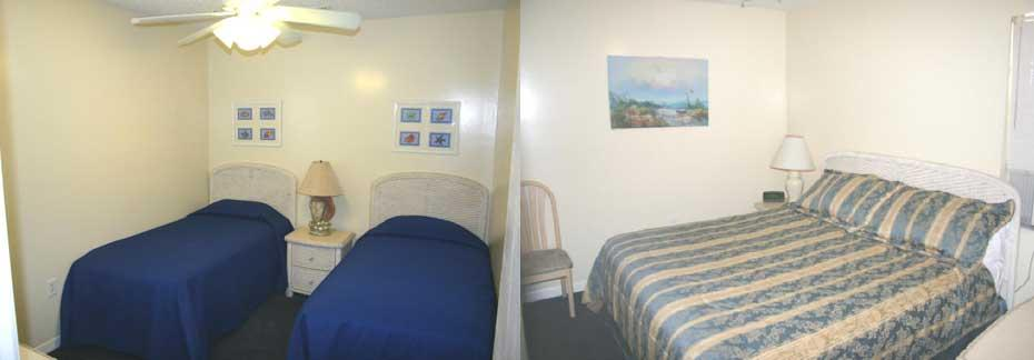 Rooms 6 and 8 - Two Bedroom, 1 Bath Apartment Bedroom Interior