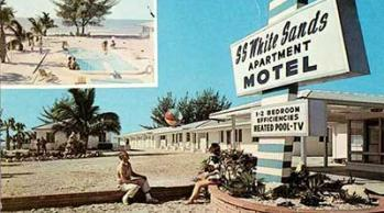 vintage postcard from White Sands Beach Fesort