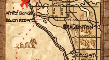 pirate style map of Anna Maria Island
